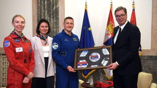 Vučić primio ruskog astronauta - Sputnik Srbija