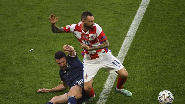 Detalj sa utakmice Hrvatska – Škotska - Sputnik Srbija