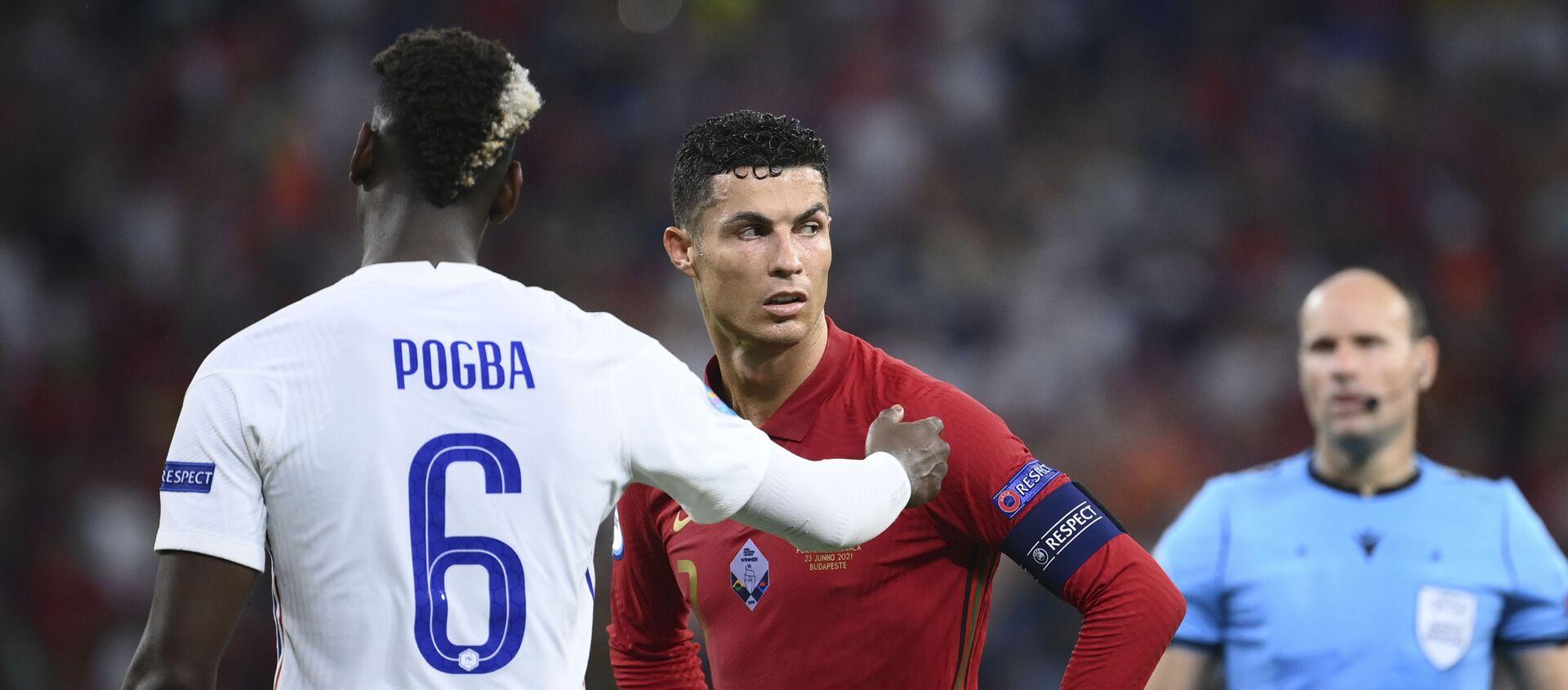 Pol Pogba i Kristijano Ronaldo u duelu Francuske i Portugalije - Sputnik Srbija, 1920