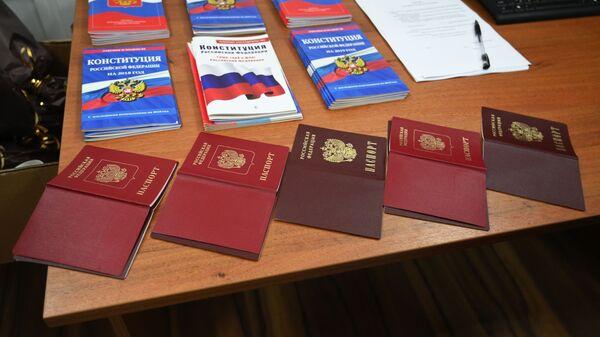 Издавање руских пасоша грађанима Донбаса - Sputnik Србија
