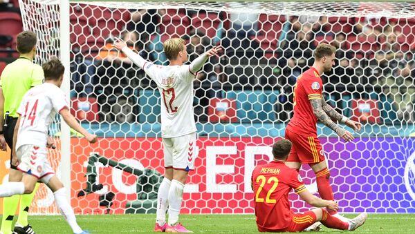 Kasper Dolberg, Vels – Danska, EURO 2020 - Sputnik Srbija