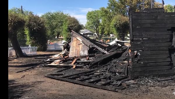 Izgorela crkva u Kanadi - Sputnik Srbija