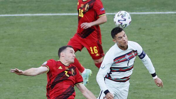 Detalj sa utakmice Belgija – Portugalija – EURO 2020 - Sputnik Srbija