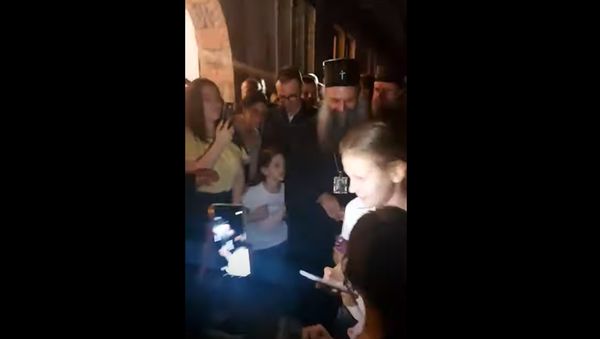 Патријарх Порфирије стигао у Грачаницу - Sputnik Србија
