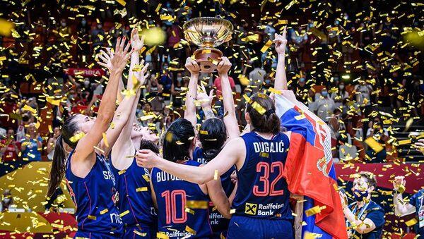 Srpske košarkašice slave evropsko zlato - Sputnik Srbija