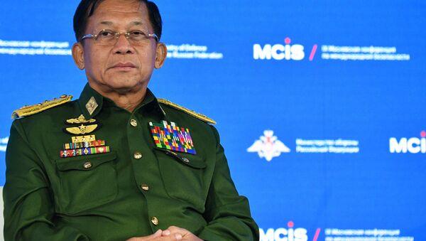 Glavni komandant Oružanih snaga Mjanmara, general Min Aun Hlajn - Sputnik Srbija