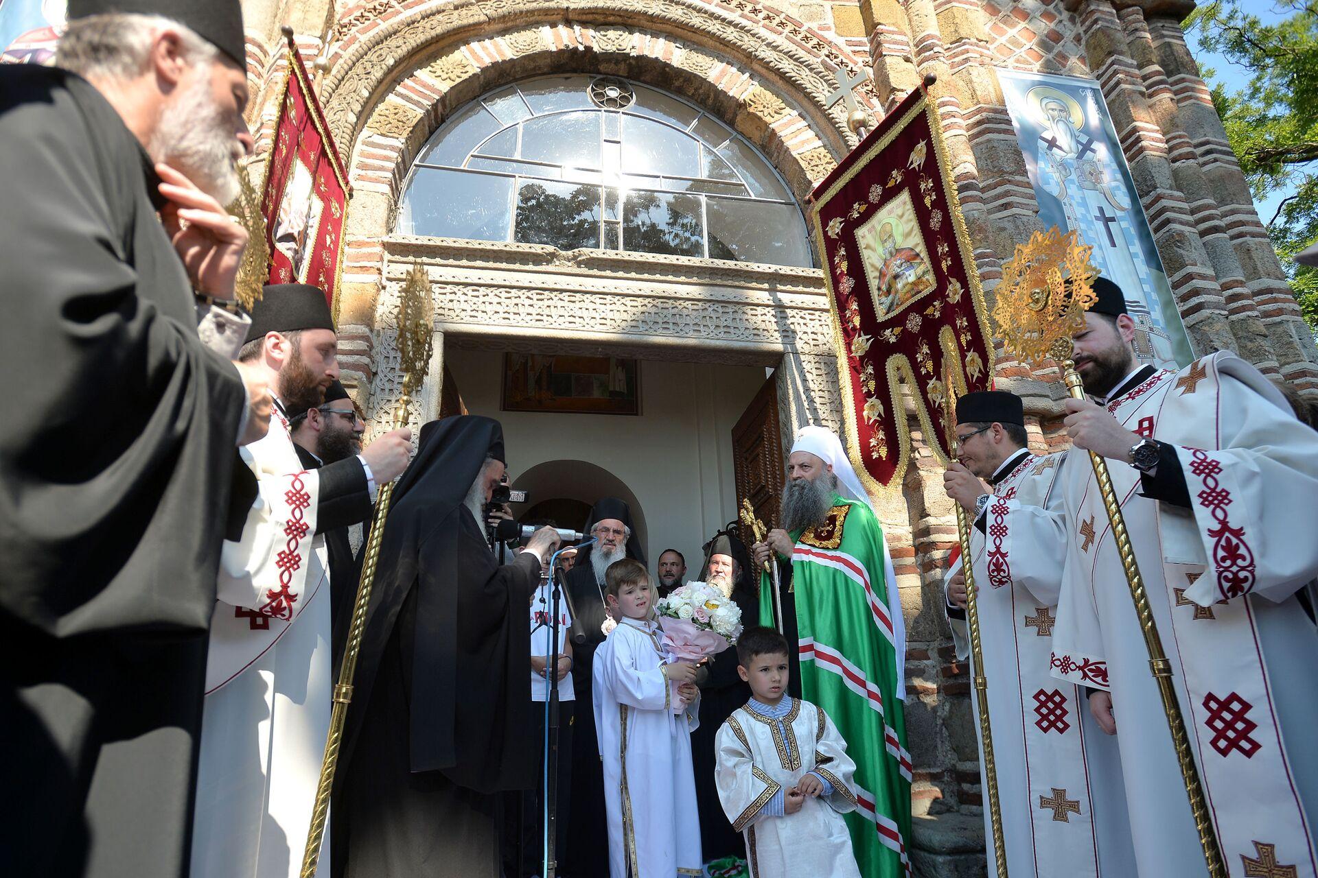 Патријарх Порфирије у цркви Лазарици у Крушевцу - Sputnik Србија, 1920, 13.07.2021