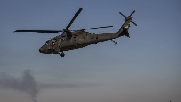 Helikopter poleće sa američke baze u istočnoj Siriji - Sputnik Srbija