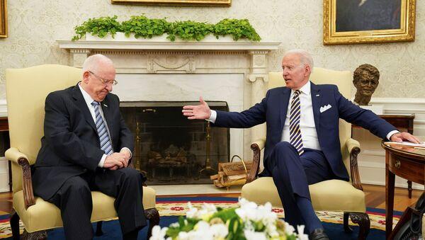 Sastanak Džozefa Bajdena sa predsednikom Izraela Ruvenom Rivlinom - Sputnik Srbija