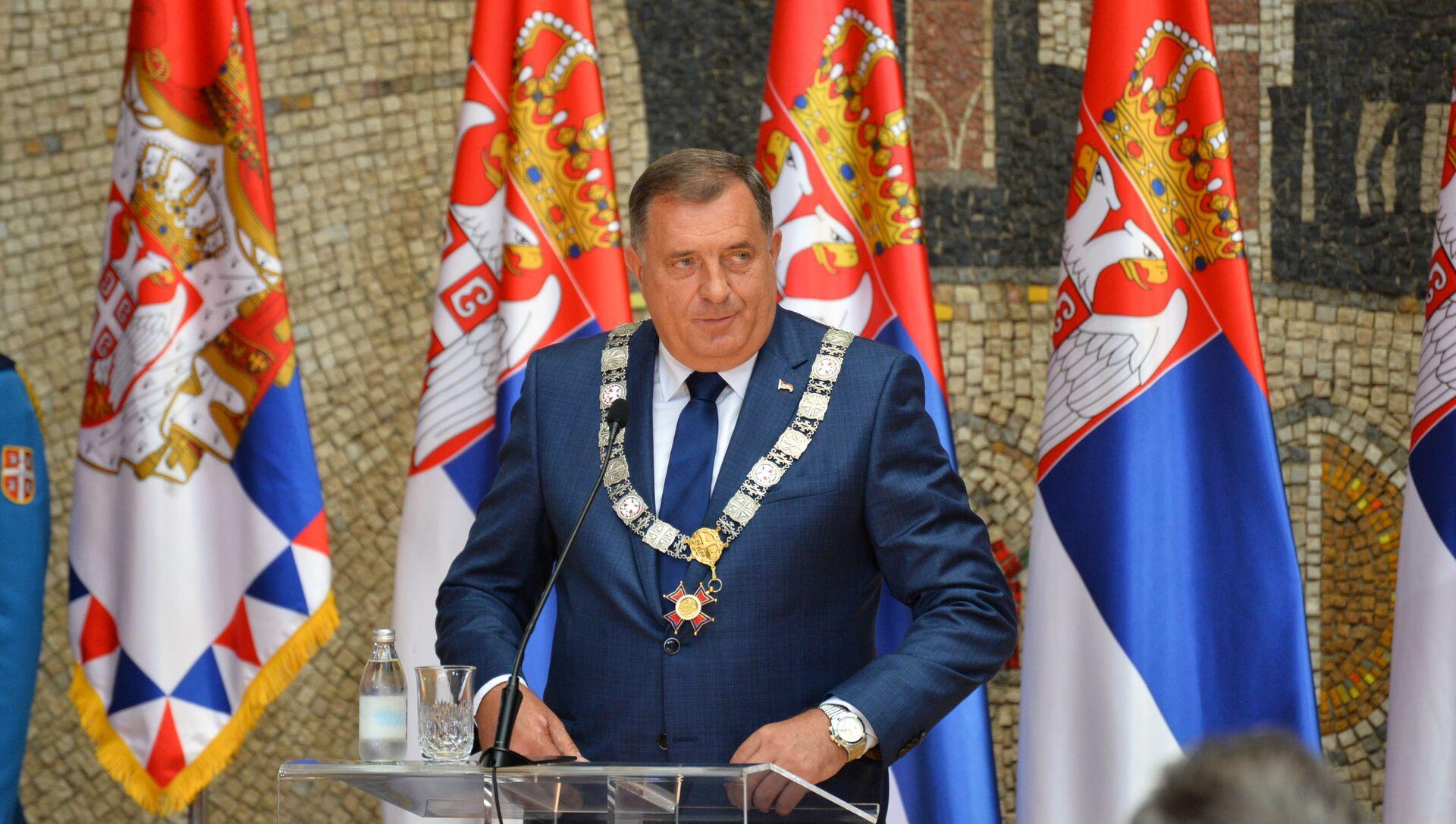 Milorad Dodik odlikovan ordenom Republike Srbije na velikoj ogrlici - Sputnik Srbija, 1920, 29.06.2021