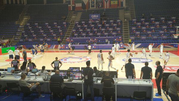 Detalj sa utakmice Srbije i Dominikanske Republike - Sputnik Srbija