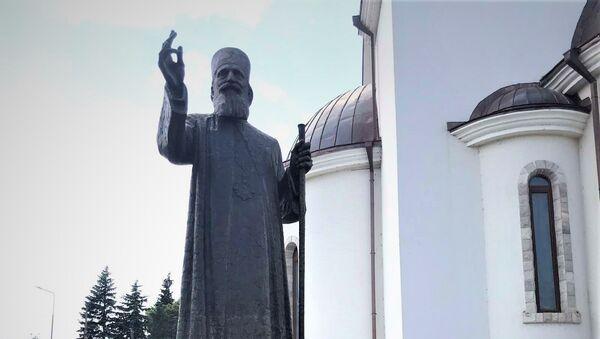 Spomenik patrijarhu Pavlu u Bajinoj Bašti - Sputnik Srbija