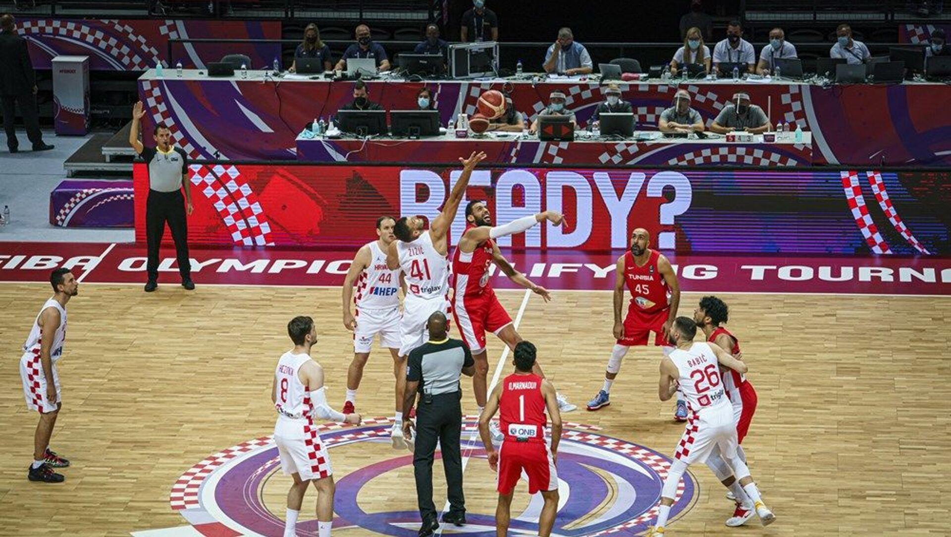 Детаљ са утакмице Хрватска – Тунис - Sputnik Србија, 1920, 01.07.2021