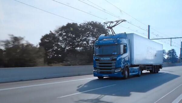 Електрична мрежа за камионе у Немачкој - Sputnik Србија