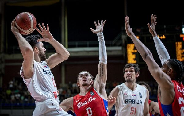 Детаљ са утакмице Србија – Порторико - Sputnik Србија