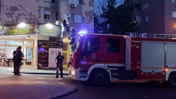 Пожар у локалу на Карабурми - Sputnik Србија