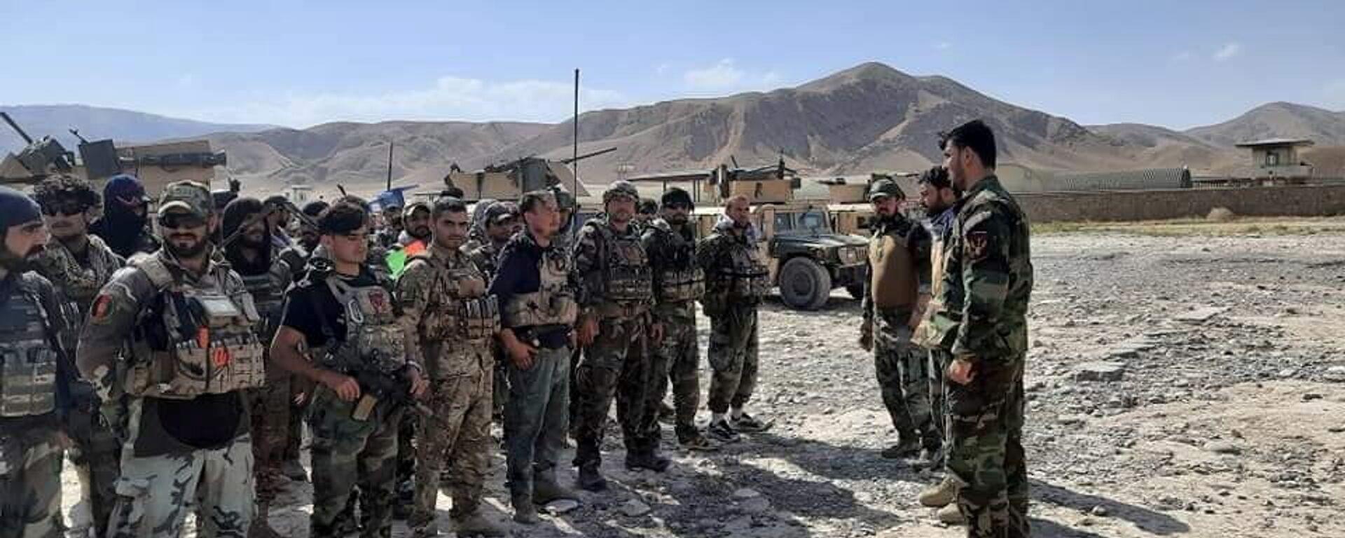 Авганистански командоси као подршка безбедносних снага у Фаизабаду након што су талибани заузели округе Бадахшана у Авганистану - Sputnik Србија, 1920, 05.07.2021