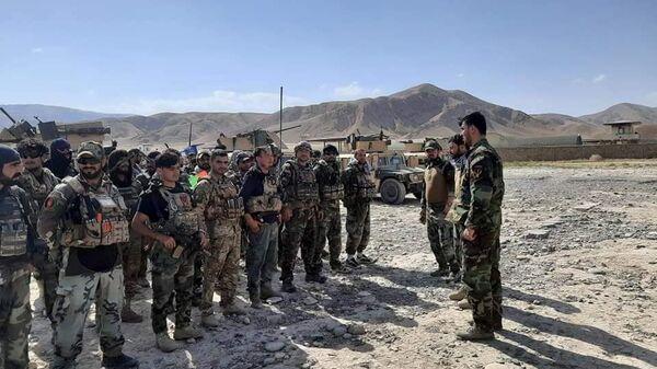 Авганистански командоси као подршка безбедносних снага у Фаизабаду након што су талибани заузели округе Бадахшана у Авганистану - Sputnik Србија