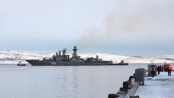 "Veliki protivpodmornički brod ""Admiral Čabanenko""  - Sputnik Srbija"