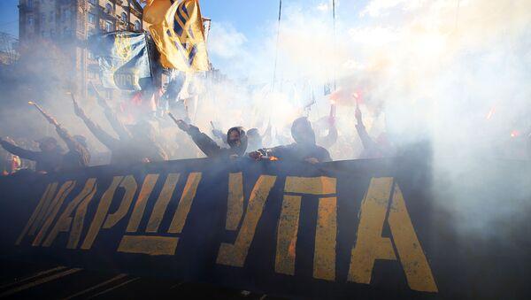 Marš nacionalista u Kijevu u čast godišnjice stvaranja Ukrajinske ustaničke armije - Sputnik Srbija