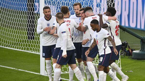 Детаљ са утакмице Енглеска – Данска - Sputnik Србија