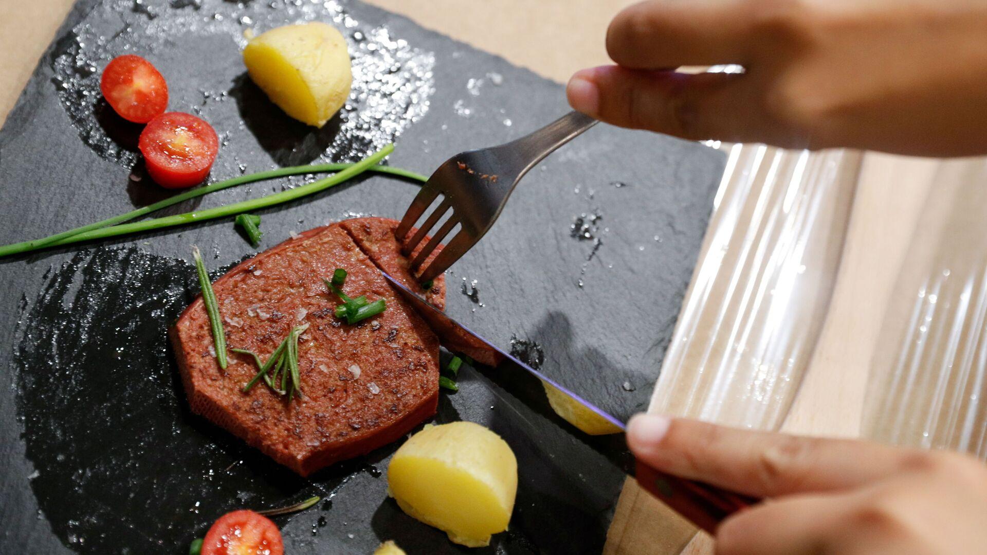Vegeterijansko meso iz 3D štampača - Sputnik Srbija, 1920, 02.09.2021
