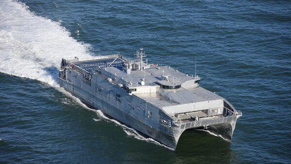 Транспортно-десантни брод америчке ратне морнарице Јума на Црном мору - Sputnik Србија