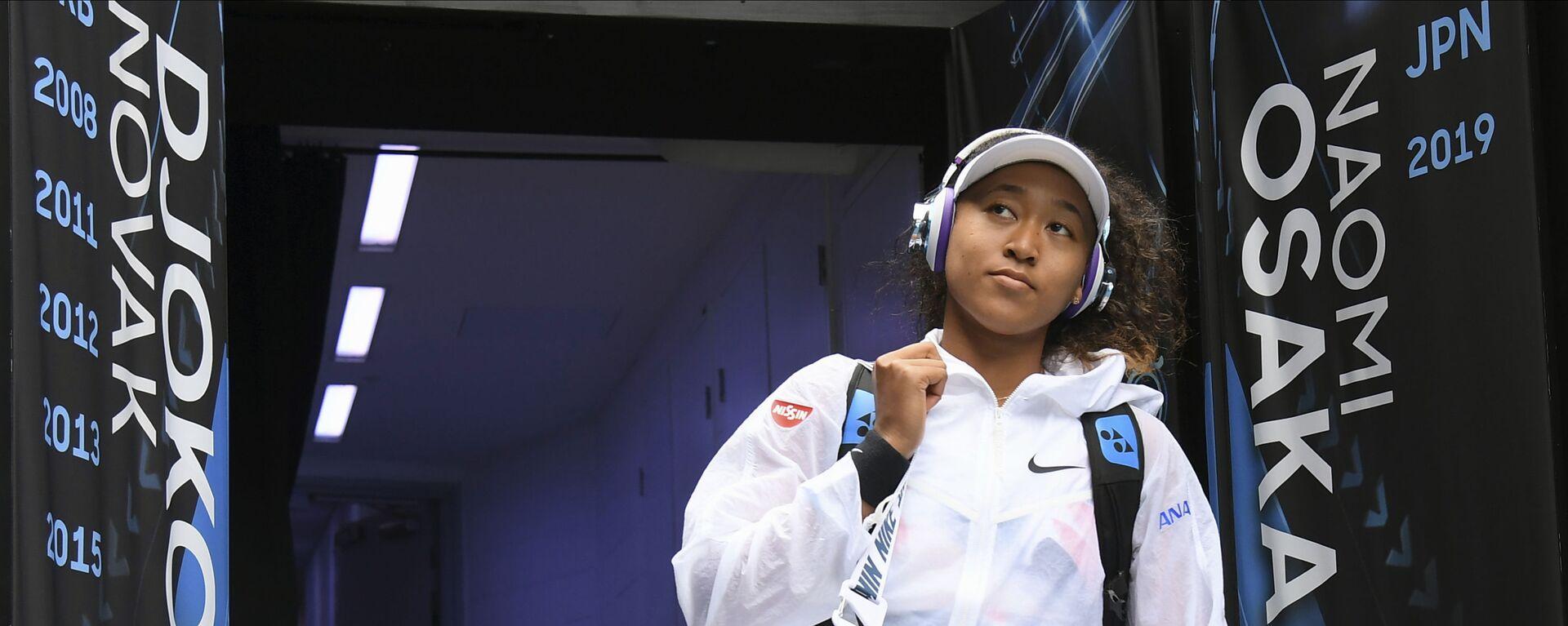 Japanska teniserka Naomi Osaka tokom Australijan opena 2020. - Sputnik Srbija, 1920, 09.07.2021