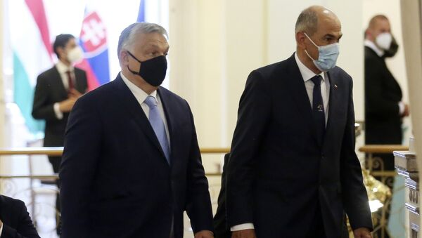 Viktor Orban i Janez Janša - Sputnik Srbija