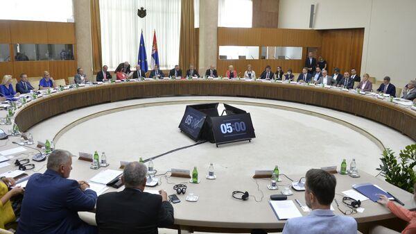 Међустраначки дијалог српских партија у Београду са представницима Европског парламента - Sputnik Србија