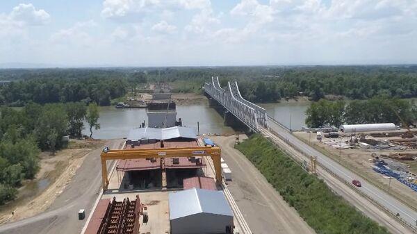 Izgradnja novog mosta na Savi kod Sremske Rače - Sputnik Srbija
