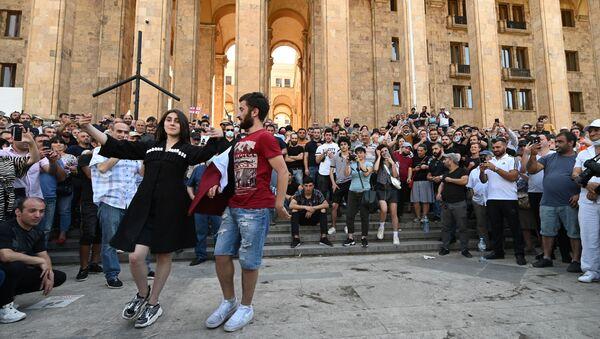 Protest protiv Parade ponosa u Tbilisiju - Sputnik Srbija