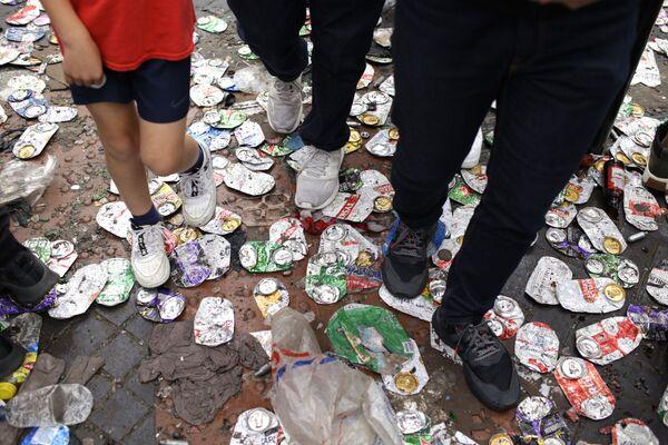 Улице Лондона након што су њима прошли навијачи Енглеске - Sputnik Србија