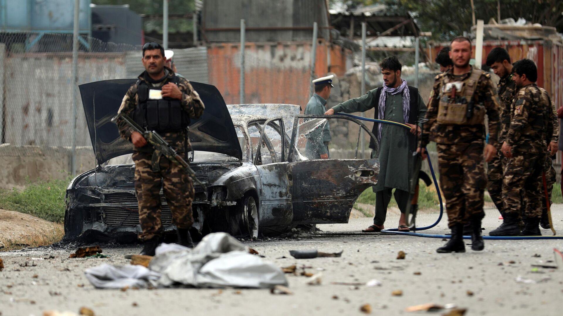 Bezbednosne snage u centru Kabula nakon što su rakete pale kod predsedničke palate - Sputnik Srbija, 1920, 13.08.2021
