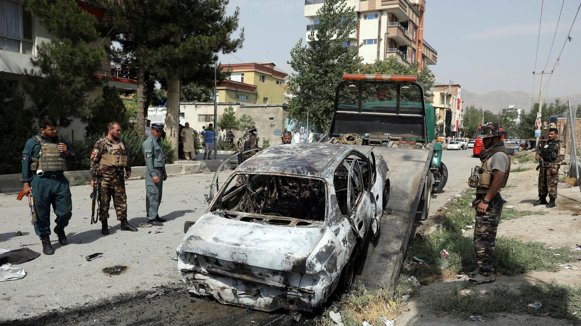 Авганистанске безбедносне снаге на месту пада ракета у Кабулу - Sputnik Србија, 1920, 30.07.2021