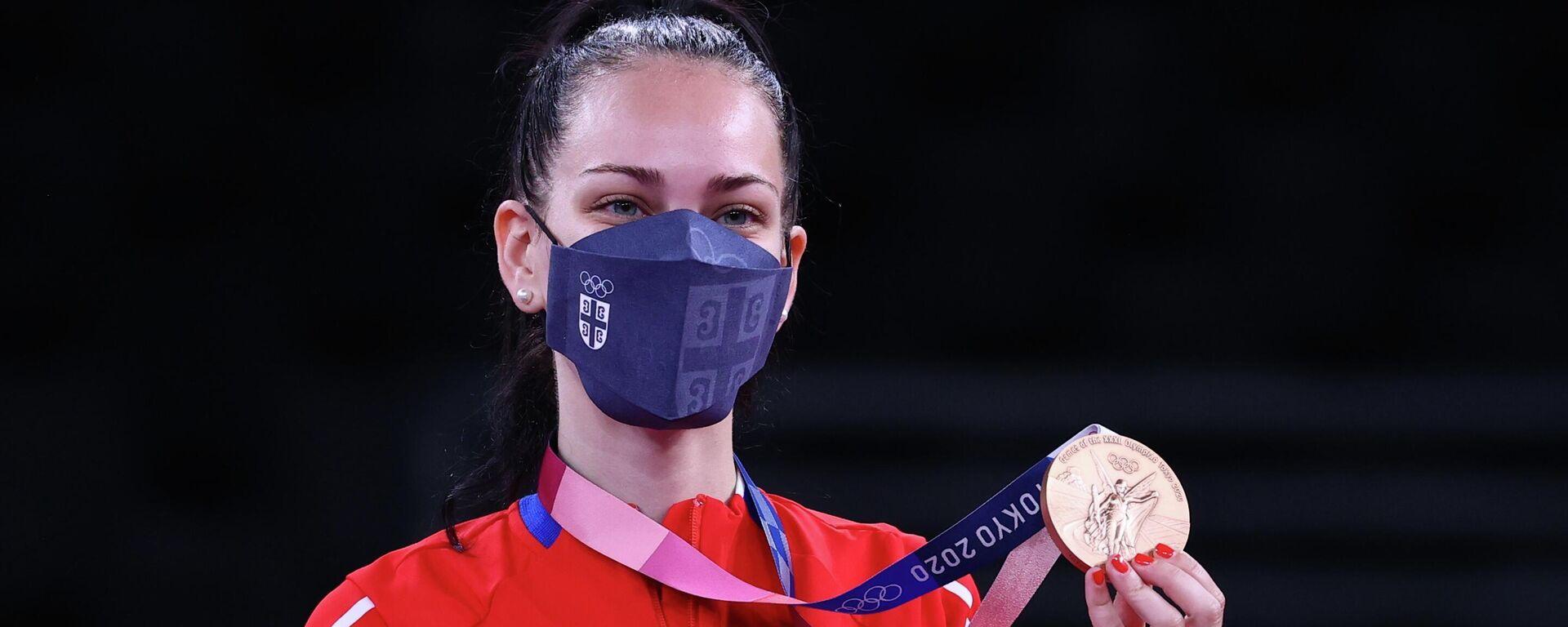 Tijana Bogdanović sa bronzanom medaljom na Olimpijskim igrama u Tokiju - Sputnik Srbija, 1920, 24.07.2021