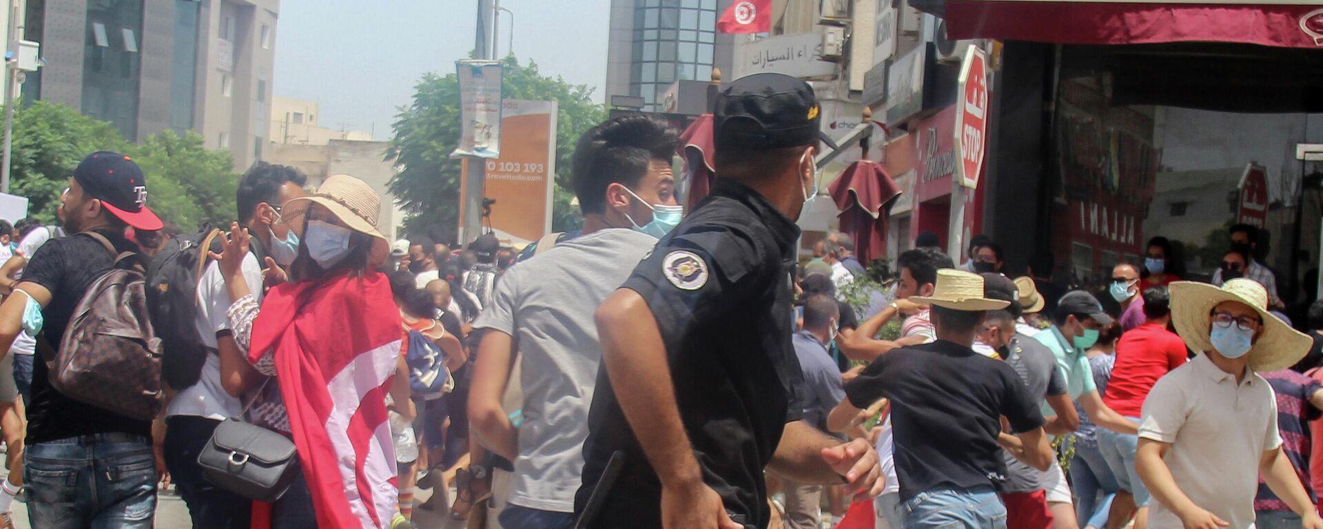 Protesti u Tunisu - Sputnik Srbija, 1920, 26.07.2021