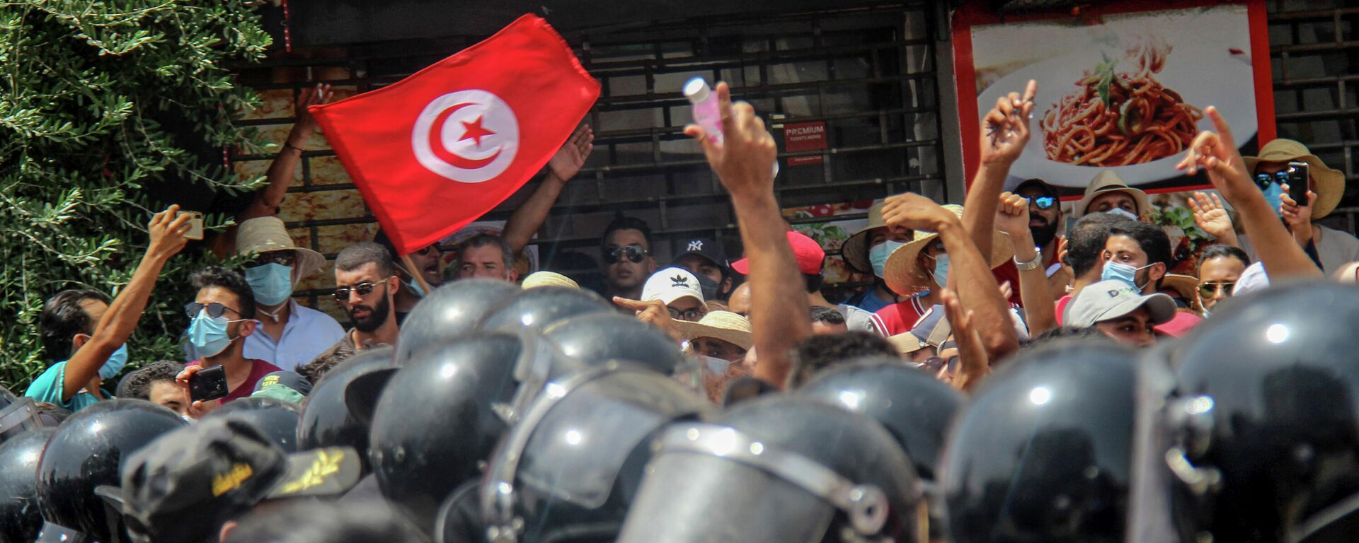 Velike demonstracije u Tunisu  - Sputnik Srbija, 1920, 26.07.2021