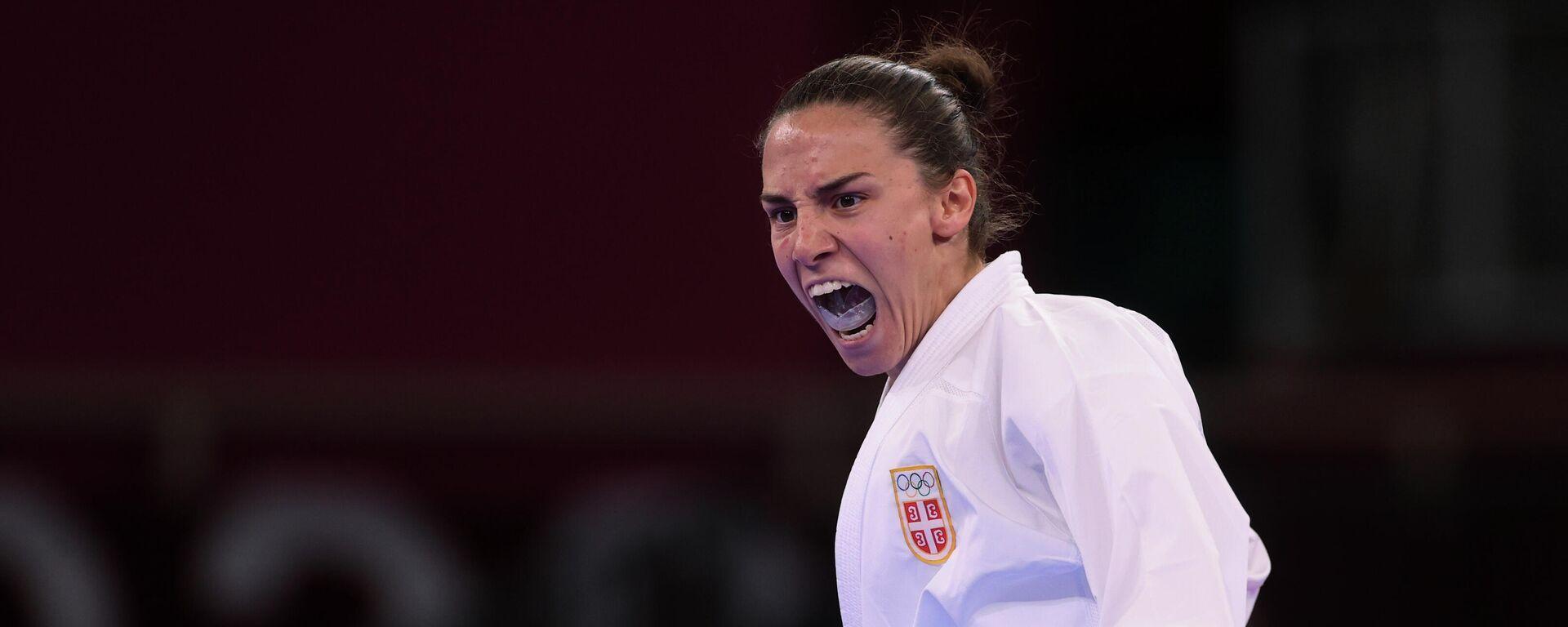 Jovana Preković proslavlja plasman u finale Olimpijskih igara - Sputnik Srbija, 1920, 06.08.2021