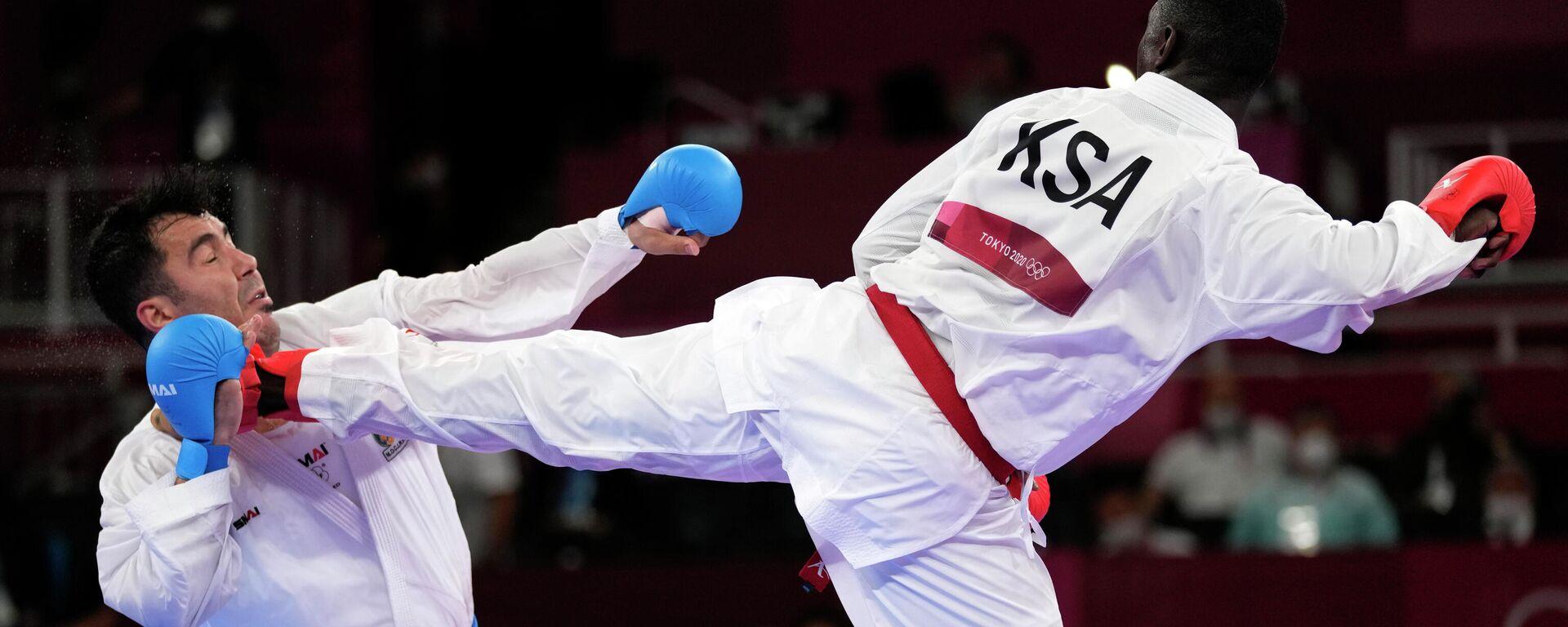 Nokaut koji je odlučio finale u karateu do 75kg na Olimpijskim igrama - Sputnik Srbija, 1920, 07.08.2021
