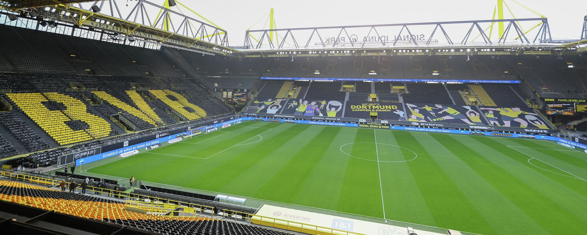 Стадион Вестфален, дом немачког клуба Борусија Дортмунд - Sputnik Србија, 1920, 15.08.2021