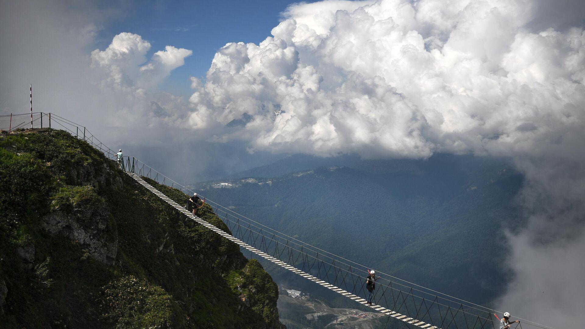 Viseći most na vrhu Roza Pik u Krasnoj Poljani - Sputnik Srbija, 1920, 11.08.2021