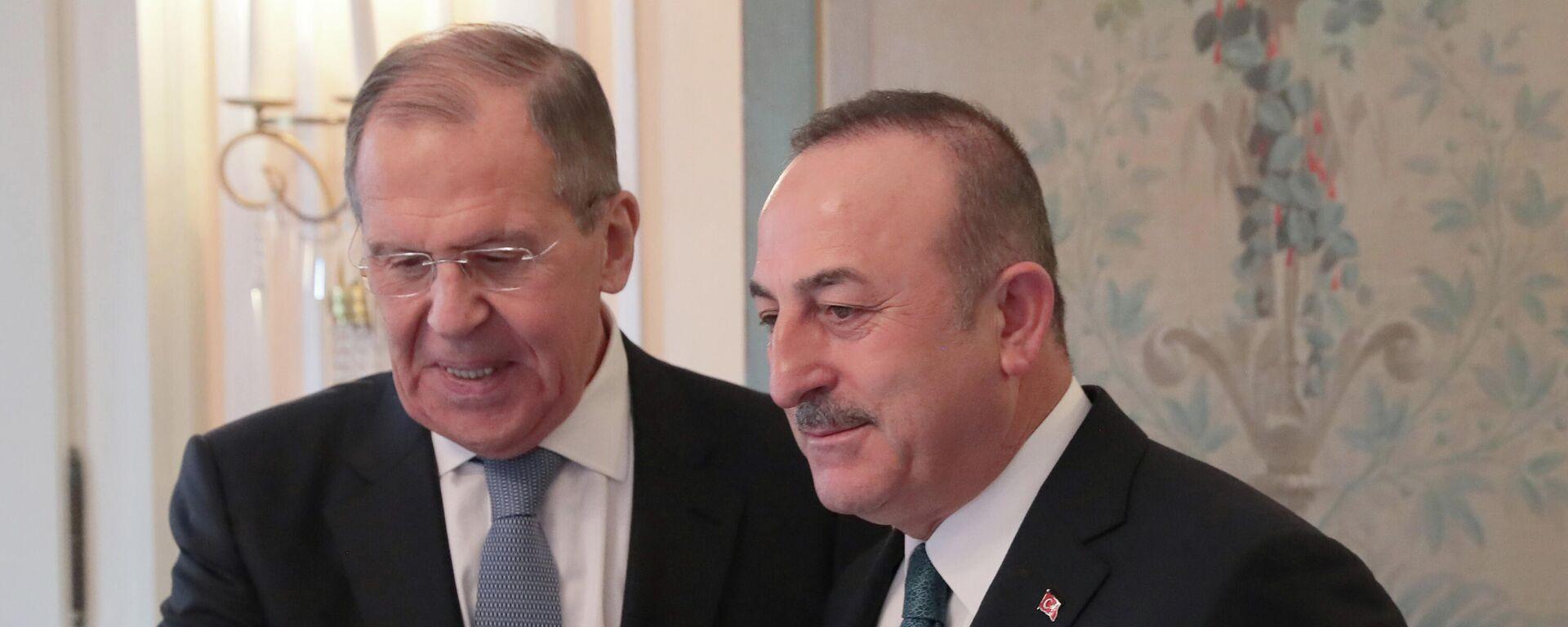 Ministri spoljnih poslova Rusije i Turske, Sergej Lavrov i Mevlut Čavušoglu - Sputnik Srbija, 1920, 18.08.2021