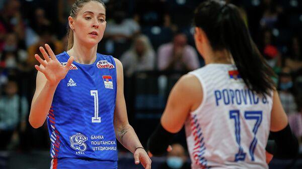 Detalj sa meča Srbija – BiH na Evropskom prvenstvu - Sputnik Srbija