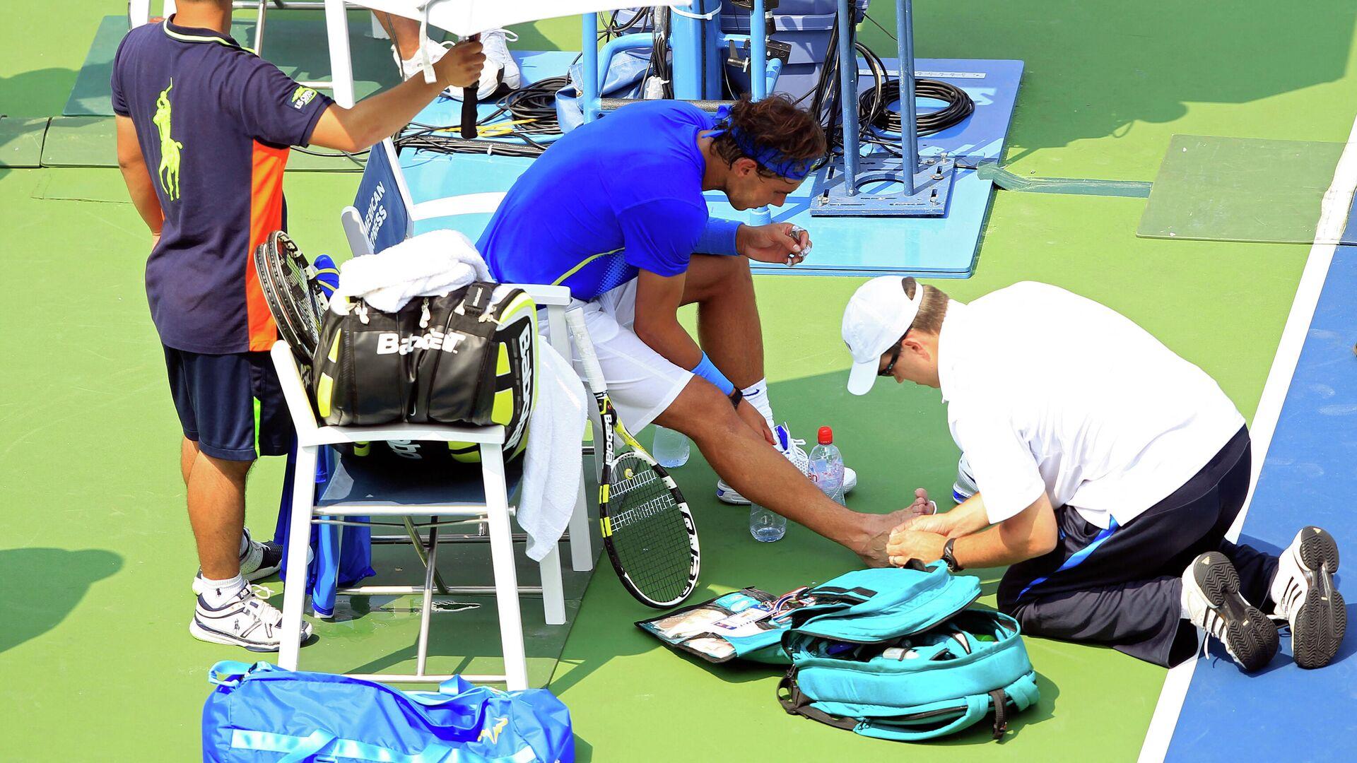 Nadalov medicinski tajm-aut zbog povrede stopala na US openu 2011. godine - Sputnik Srbija, 1920, 22.08.2021