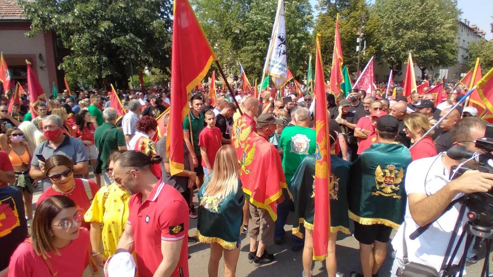 Протест на Цетињу против устоличења митрополита Јоаникија - Sputnik Србија, 1920, 01.09.2021