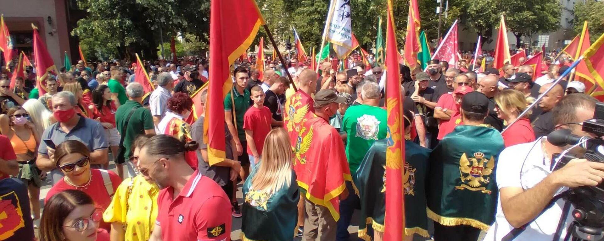 Protest na Cetinju protiv ustoličenja mitropolita Joanikija - Sputnik Srbija, 1920, 01.09.2021