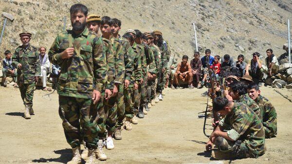 Afganskoe dviženie soprotivleniя vo vremя učeniй v provincii Pandžšer, Afganistan - Sputnik Srbija