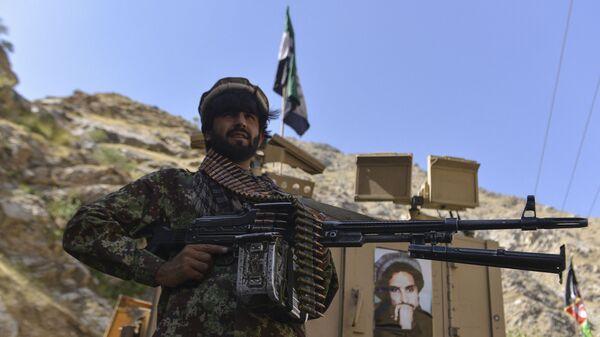 Афганское движение сопротивления во патрулирования в провинции Панджшер, Афганистан - Sputnik Србија