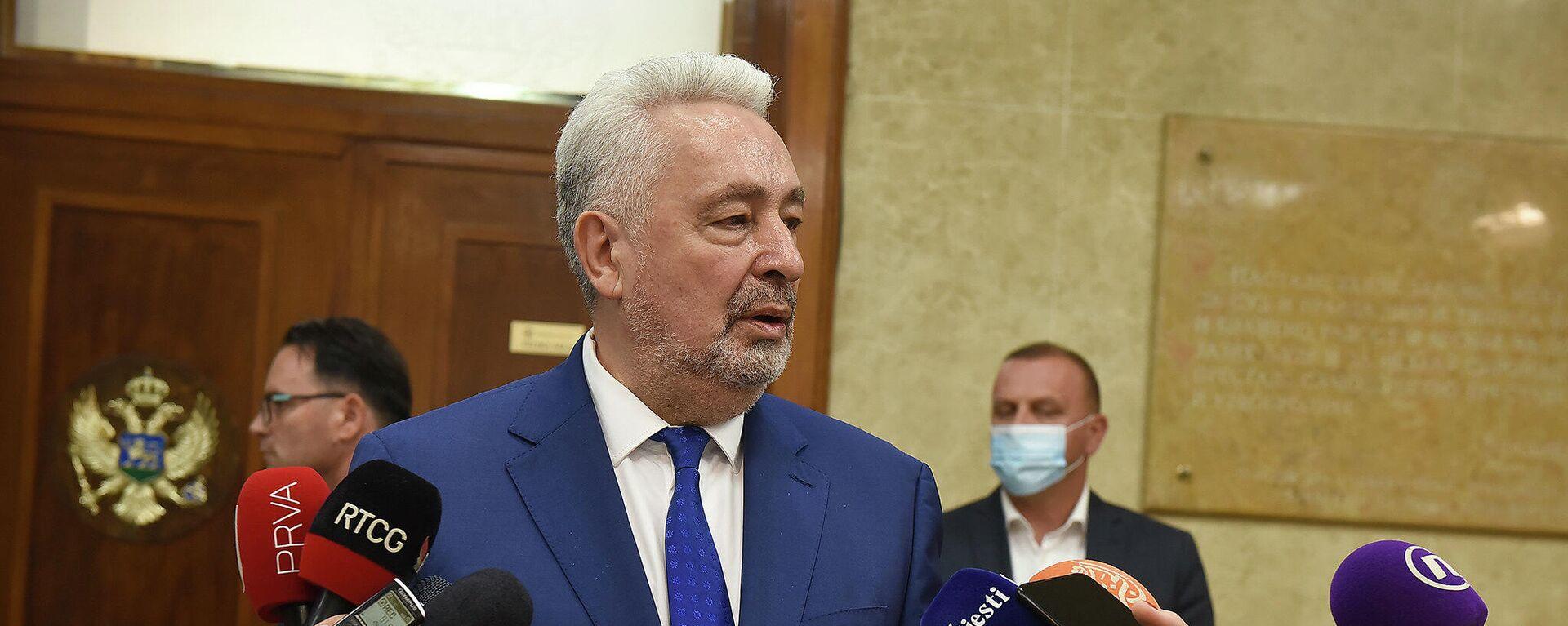 Premijer Crne Gore Zdravko Krivokapić - Sputnik Srbija, 1920, 02.09.2021